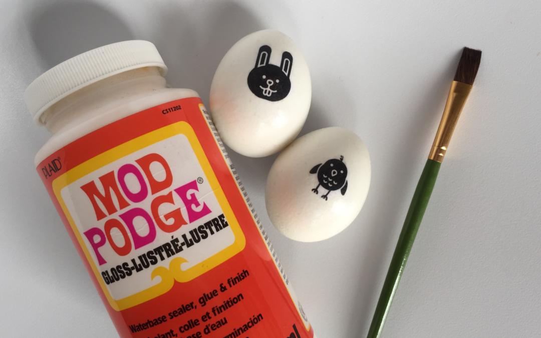 Iconic Easter Eggs: DIY Print-Transfer